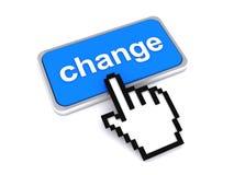 Fingerpunkte zum zu ändern Stockfotos