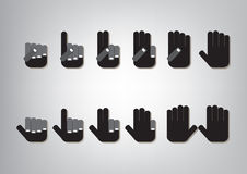 Fingerräkning stock illustrationer
