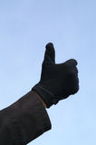 Fingers. Thumb; hand; good; ok; one;  glove Royalty Free Stock Photography
