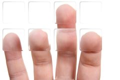 Fingers and buttons Royalty Free Stock Images