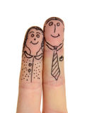 Fingers couple Stock Images