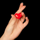 Fingers crossed with heart Royalty Free Stock Photo