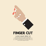 Fingers Cut With Knife. Vector Illustration Stock Photography