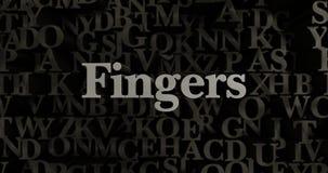 Fingers - 3D rendered metallic typeset headline illustration Stock Photos