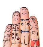 Fingers Family Royalty Free Stock Images