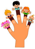 Fingers Family. Happy face of Finger Family Stock Image