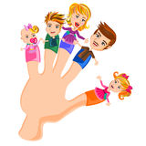 Fingers Family. Happy face of Finger Family vector Royalty Free Stock Photography