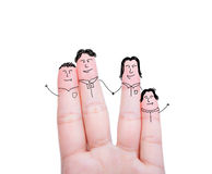 Fingers Family Stock Photography