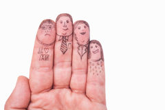 Fingers Family Royalty Free Stock Image