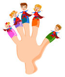Fingers Family. Happy face of Finger Family vector Stock Photography