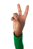 The fingers form the victory sign Stock Image