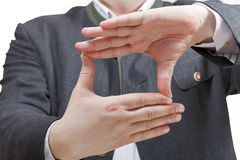 Fingers framing - hand gesture Royalty Free Stock Photos
