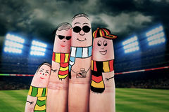 Fingers gesturing as football fans Royalty Free Stock Photo