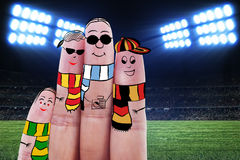 Fingers gesturing as soccer fans Royalty Free Stock Photography