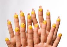 fingers group happy 免版税库存图片