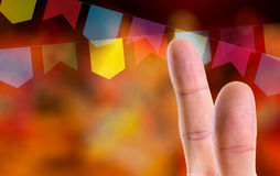 Fingers at Junina Party Theme (Festa Junina) Royalty Free Stock Image