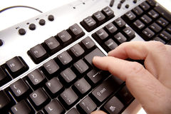 Fingers and keyboard Stock Photo