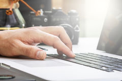 Fingers on the keyboard Stock Image
