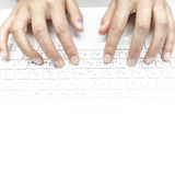 Fingers on the laptop keyboard Stock Image