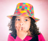 Fingers on the lips Royalty Free Stock Photography