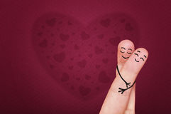 Fingers in love. Royalty Free Stock Photos
