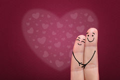 Fingers in love. Royalty Free Stock Images