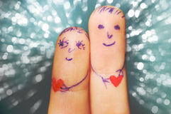 Fingers in love Stock Photography