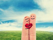 Fingers in love Stock Images