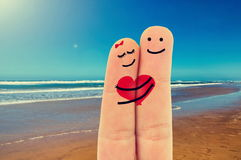 Fingers in love royalty free stock photography