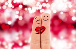Fingers in love Royalty Free Stock Photos