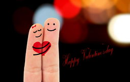 Fingers in love Stock Image
