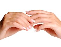 Fingers massage Royalty Free Stock Image
