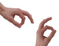 Fingers OK Stock Photo