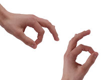 Fingers OK Stock Images