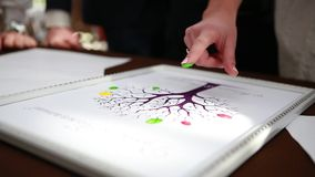 Fingers painted Suite Family tree stock video