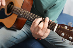Fingers from playing acoustic guitar Royalty Free Stock Images