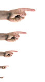 Fingers pointing right Stock Images