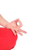Fingers position in meditation Royalty Free Stock Photography