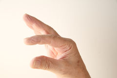 Fingers show a size measurement Royalty Free Stock Photos
