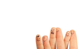 Fingers Smile, with a space for Your text, Royalty Free Stock Images