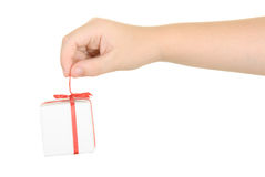 Fingers stretch  gift Stock Image