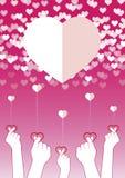 Fingers symbol mini heart. vector illustration. Fingers in heart form, Mini heart,Symbolic of Korea Royalty Free Stock Photo