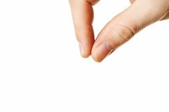 Fingers To Hold Something Royalty Free Stock Images
