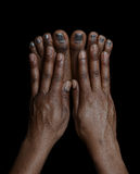 Fingers and toes. Beautiful , Very Interesting Image of Fingers and Toes Royalty Free Stock Photography