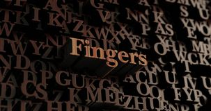 Fingers - Wooden 3D rendered letters/message Royalty Free Stock Photos