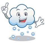 Fingerschneewolken-Charakterkarikatur Stockfoto
