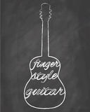 Fingersyle Guitar Royalty Free Stock Photography