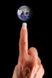 Fingertip Earth Royalty Free Stock Photos