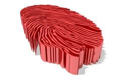 Fingertip. Red 3d fingertip like maze Stock Photography
