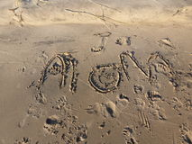 Fingertips and Footprints. A child`s message of love; a mother`s world in grains of sand. Summer days and strolling plays, Michigan memories stock image